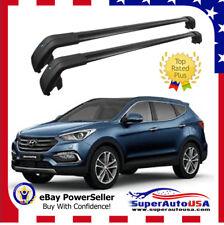 For Hyundai Santa Fe Sport 13 -17 Top Roof Rack Baggage Luggage Cross Bar Black