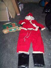 Vintage 50's Christmas Santa Claus Suit Costume #880F in box Size L Large