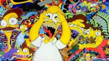 The Simpsons Homer Simpson Psychedelic Bad Trip Sticker or Magnet