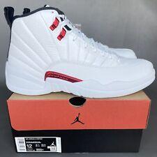 Nike Air Jordan 12 Retro Twist Men's Size 12 White Metallic Red CT8013-106 NEW