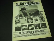 Glenn Yarbrough Ian Whitcomb Martin Denny Kostas others Rare 1981 Promo Ad Mint