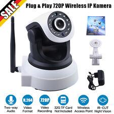 720P HD WIFI IP Kamera WLAN Wireless CCTV Camera Webcam Netzwerk WIFI Nachtsicht