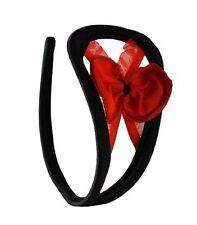 Da Donna C-String rosso fiocco Biancheria Intima Lingerie Taglia Unica S/M/L