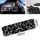 Car Body Side Trim Geometric Triangle Graphics Decal Vinyl Sticker Glossy Black