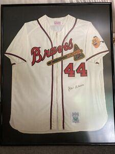 MLB Hank Aaron Signed Framed Jersey with JSA LoA