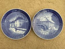 Set of 2 Royal Copenhagen Christmas Plates 1975 & 1976