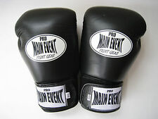 PRO MAIN EVENT BLACK BOXING GLOVES 16 oz  LEATHER  GREAT