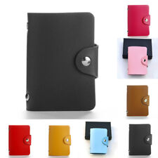 24 Cards PU Leather Bank Business ID Credit Card Holder Pocket Case Purse Wallet