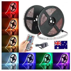 5M/10M RGB LED Strip Lights 60LED/M 5050 SMD +Remote Controller + DC 12V Adapter