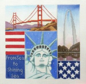 Amanda Lawford Sea to Shining Sea Handpainted Needlepoint Canvas