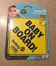 2 Safety 1st Baby On Board! Safety Yellow Signs *Crash Tested* Car Truck Vehicle