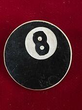 "Black White Plastic Pool Billiards 8 Ball Lapel Tie Hinge Pin 1"""