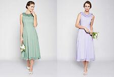 BHS Bridesmaid Dress Nancy Dark Mint Lilac Size 12 16 18 20 BNWT