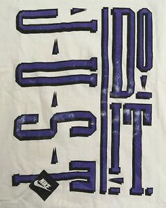 Vintage 90s Nike Just Do It T-shirt Single Stitch Logo Tee Gray Tag Men's Sz XL