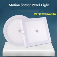 LED Panel Light 6W/12W/18W/24W Motion Sensor Ceiling Downlight Ceiling Lamps