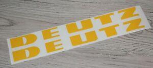 Deutz Aufkleber 2x goldgelb für Sitz Motorhaube oder sonstiges Sticker Set