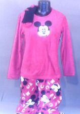 womens mickey mouse 3 piece pajama set size large(12-14)