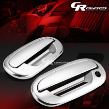 FOR 97-03 F-150 CHROME MIRROR ABS 2-DOOR HANDLE+KEYPAD COVER NO PASSENGER KEY