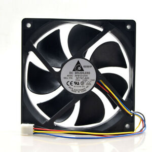 Delta AFB1212VH PWM 12025 12V 0.60A 12CM 4PIN cooling fan 120*120*25mm