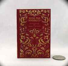 SENSE AND SENSIBILITY Book in 1:3 Scale Readable Miniature Book Accessories AG