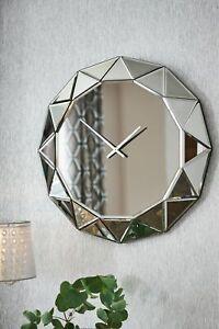 Next Mirror Facet Wall Clock
