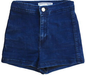 American Apparel Jeans Denim Shorts Made In USA High Waist XS Disco Shorts Style
