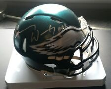 Carson Wentz Nick Foles Autographed Eagles Speed Helmet Authentic