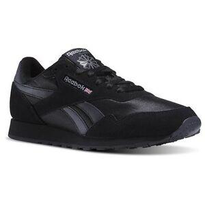 Reebok Royal Nylon Classic BLACK/Black BD1554 Casual  Comfort Sneakers for MEN