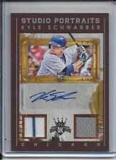 2016 DIAMOND KINGS KYLE SCHWARBER DUAL JERSEY & AUTOGRAPH #D99/99 CHICAGO CUBS