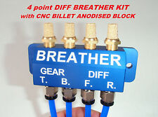 DIFF BREATHER KIT - CNC Billet Anodised Block Toyota, Hilux, Jeep
