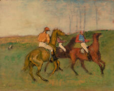 Jockeys and Race Horses by Edgar Degas 60cm x 48cm Art Paper Print
