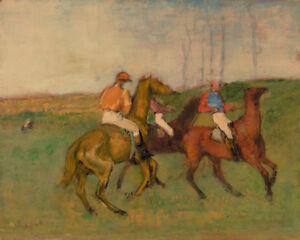 Jockeys and Race Horses by Edgar Degas 60cm x 48cm Art Paper Print