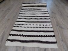 Antique Handwoven Linen&Wool Fabric or Rug runner 1920s Ukraine 4x0,62m