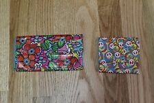 LOT OF 2 HANDMADE DUCT TAPE WALLETS FLORAL AND HIPPIE PRINT