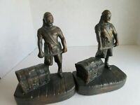 Pirate Standing with Treasure Chest - Cast Iron with Bronze Patina (Hubley?)
