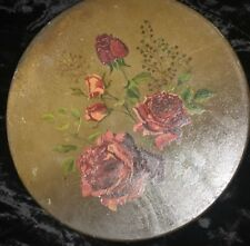 2 Foil Art Floral Made in England Wall Tin Antique Plates