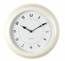 """KITCHEN C-97165W TELETIME 12/"""" WALL CLOCK  WATER RESISTANT  FOR BATHROOM"""