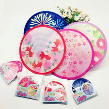 1x Multifunction Japanese Folding Hand Fan & Kids Flying Frisbee Random Delivery