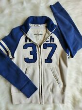 Boys Abercrombie & Fitch Kids Sweater Jacket Large Blue And White A&F92 Muscle