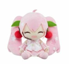 Sakura Miku Plush Doll 2020 Ver. Cherry Blossoms Pink Smiling 7 Inches NEW
