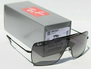 RAY-BAN RB3697 Sunglasses Wings II Shield Black/Grey Gradient 002/11 3N NEW