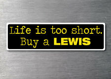 Buy a Lewis sticker quality 7yr vinyl water & fade proof boat ski speed