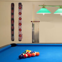 6 Cues Wall Mount Hold Wooden Pool Cue Rack Snooker Billiard Stick Holder 40cm !