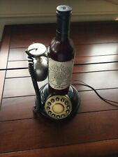 Real Working Retro land line Wine Bottle With Wine Glass As The Receiver.