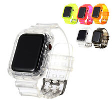Clear Sports Band TPU Strap Case For Apple Watch 42/44mm iWatch Series 5/4/3/2/1