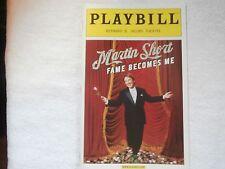 Playbill Program Martin Short Fame Becomes Me Jacobs Theatre 2006 Marc Shaiman