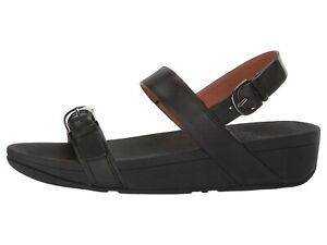 Fitflop EDIT Slingback Black Women's Arch Support Wedge Sandals T15-001