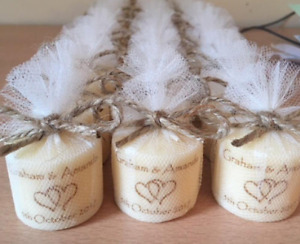 Personalised votive vintage style candles - set of 10!