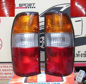 2 x Mazda Bravo B2500 B2600 1999 - 2002 1999 2000 2001 Ute Tail Lights LH RH