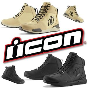 2020 ICON TARMAC WP MOTORCYCLE BOOTS WATERPROOF BREATHABLE - PICK SIZE/COLOR